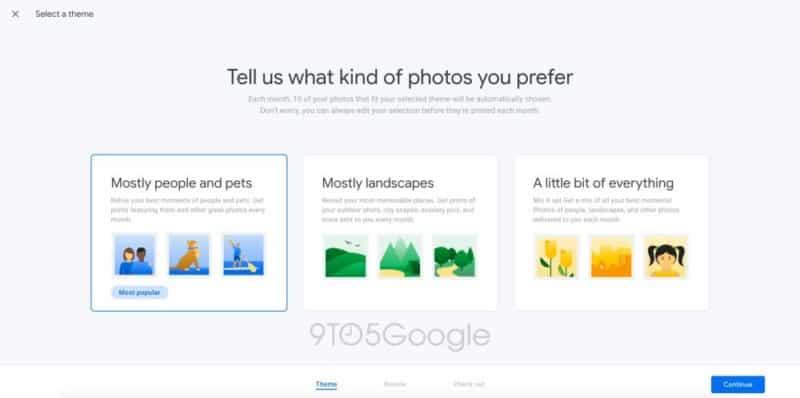 Google foto stampa mensile