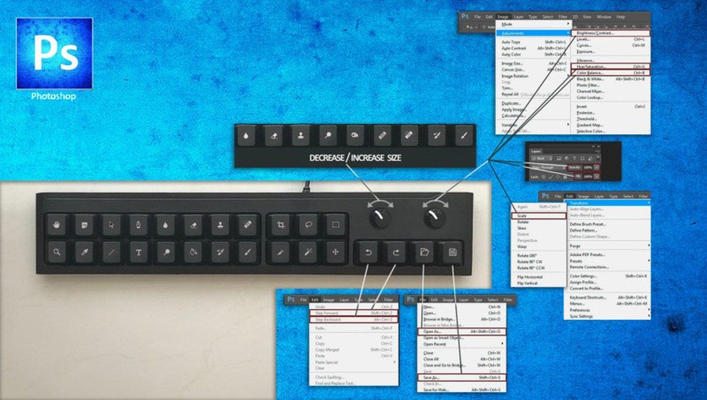 Photoshop tastiera barra strumenti