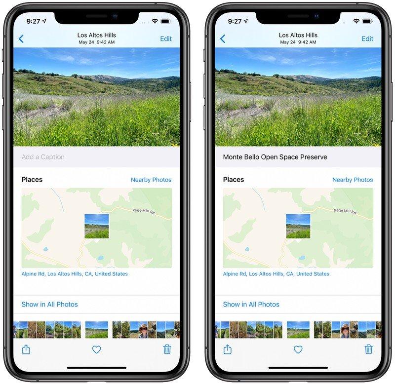 iOS 14 didascalie