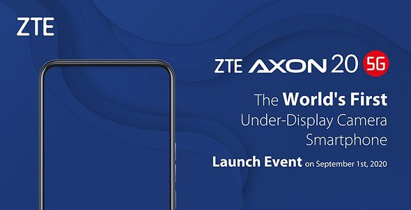 ZTE fotocamera frontale sotto display