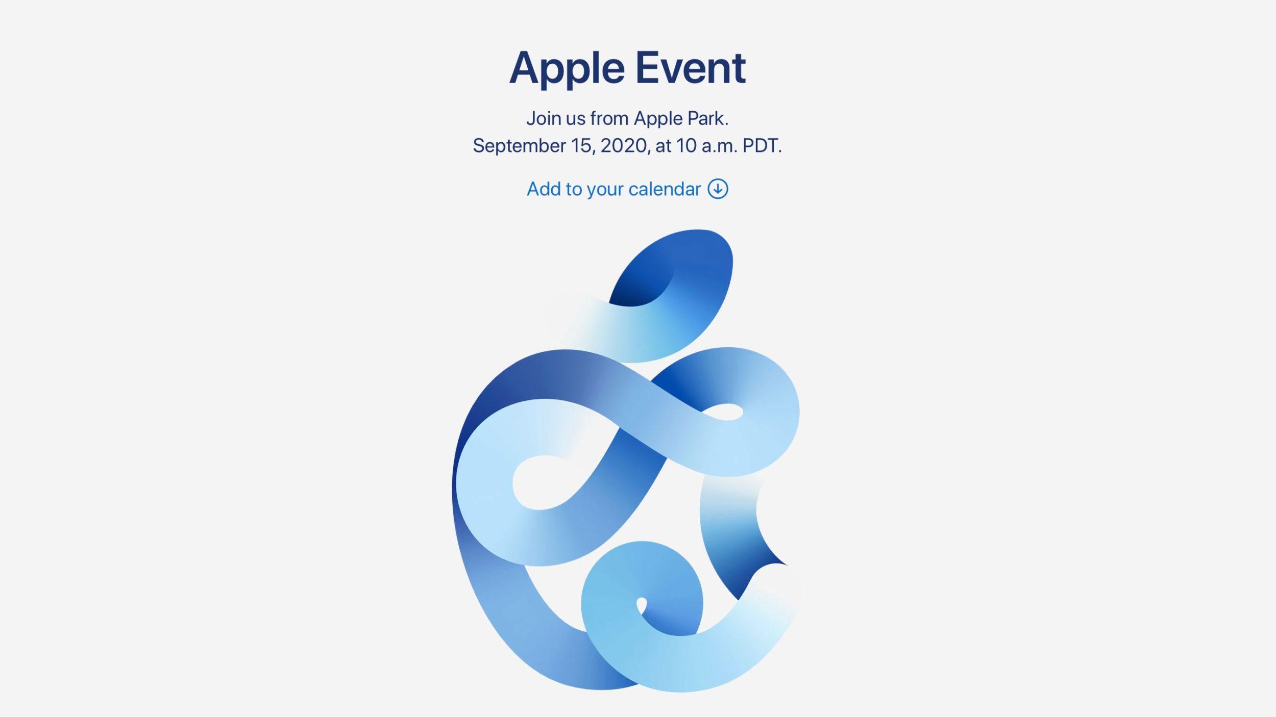 Apple Keynote Settembre 2020
