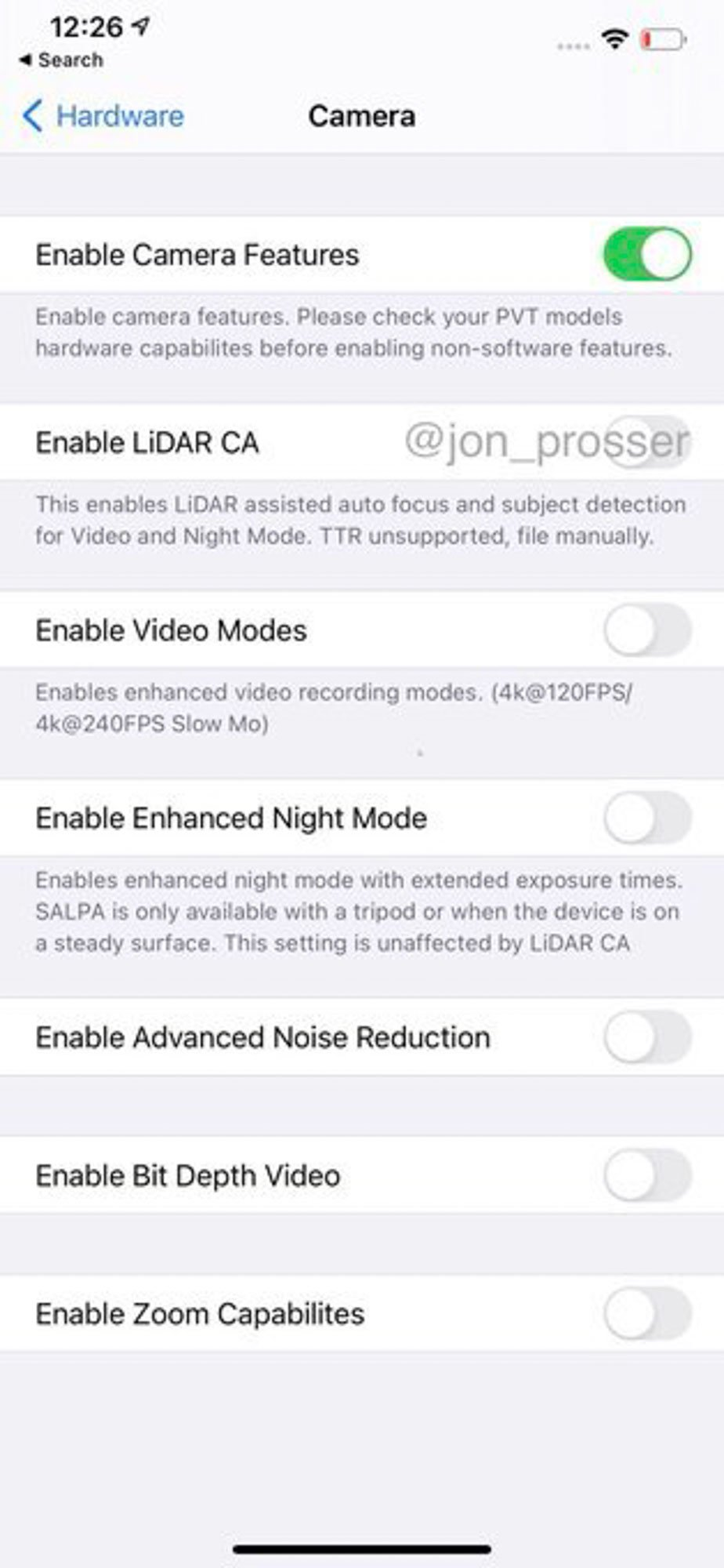 iPhone 12 rumors foto notturne