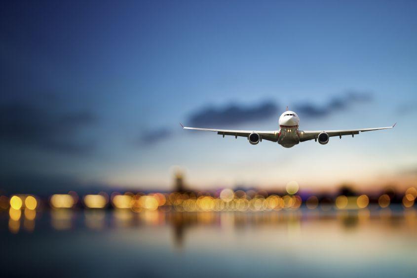 Timelapse partenza aereo