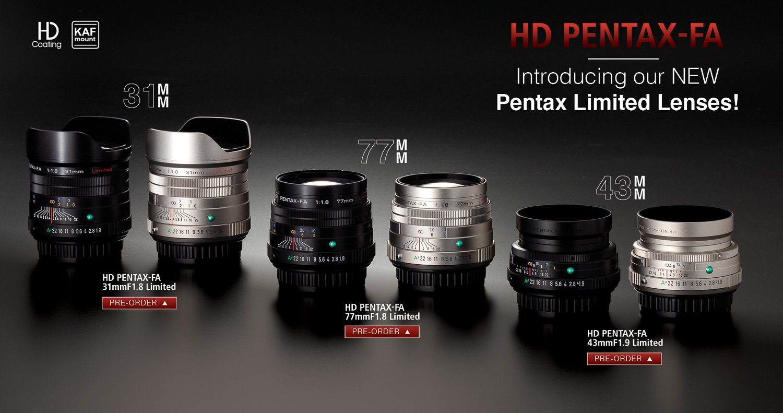 Obiettivi Pentax FA Limited Edition
