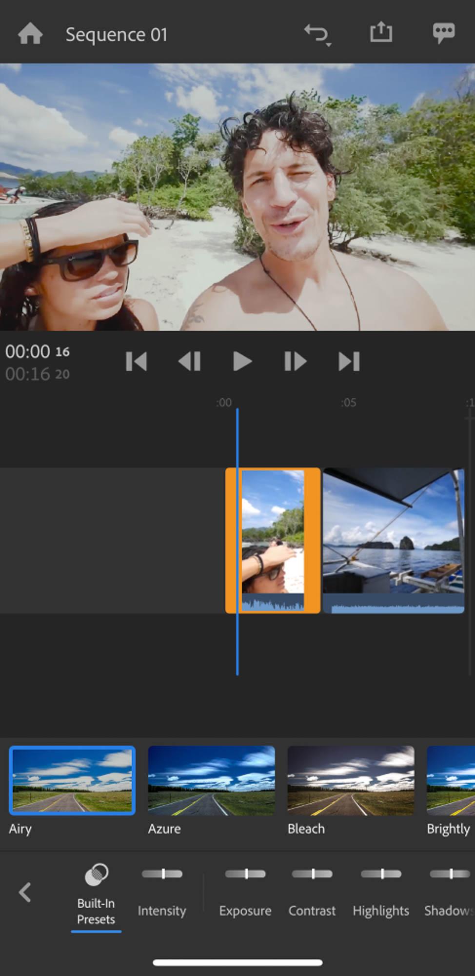 Adobe Premiere Rush 24 nuovi preset