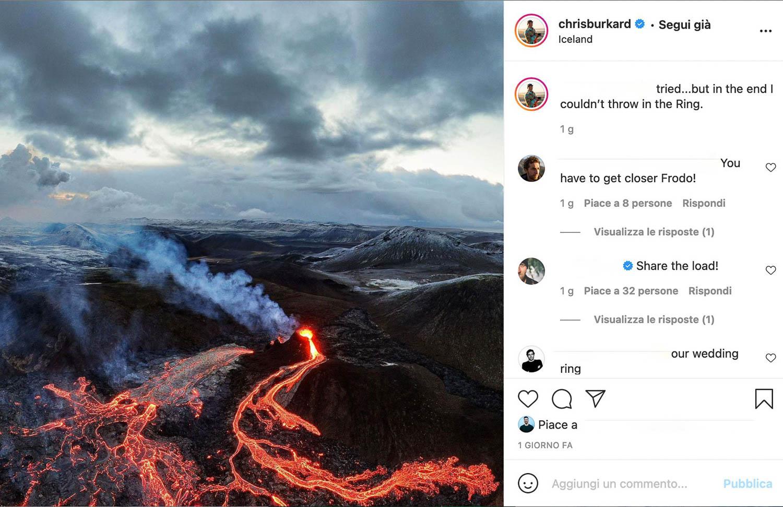 Drone sul vulcano