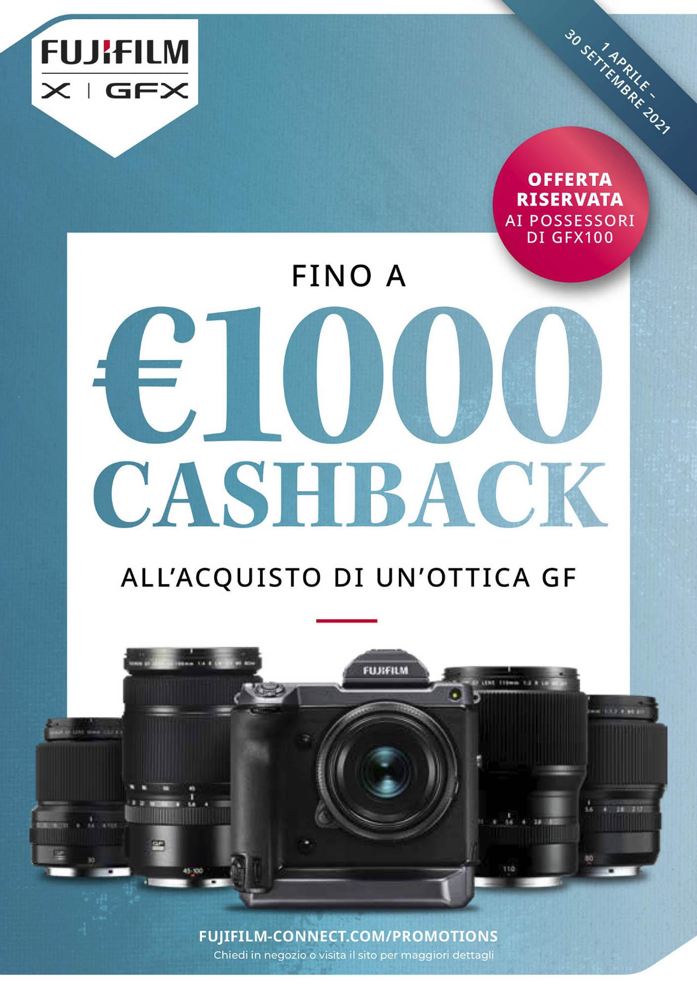 Fujifilm Cashback ottiche GF 2021