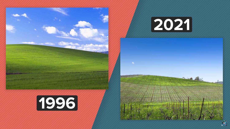 Collina sfondo Windows 25 anni dopo