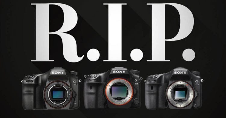 Sony fine produzione reflex