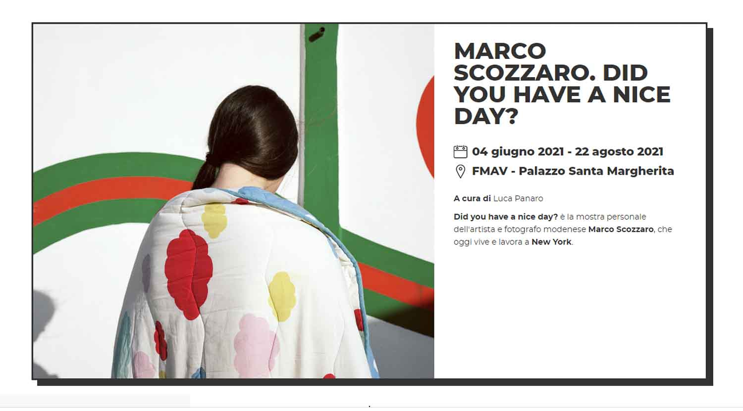 Marco Scozzaro Did you have a nice day?