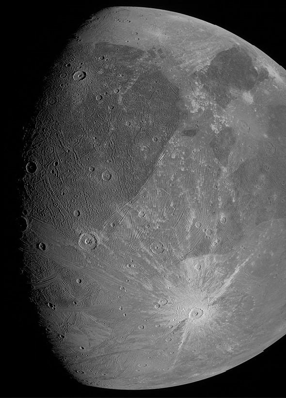 NASA Juno prime immagini Ganimede