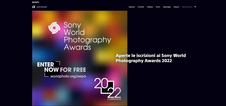 Sony World Photography Awards 2022 iscrizioni