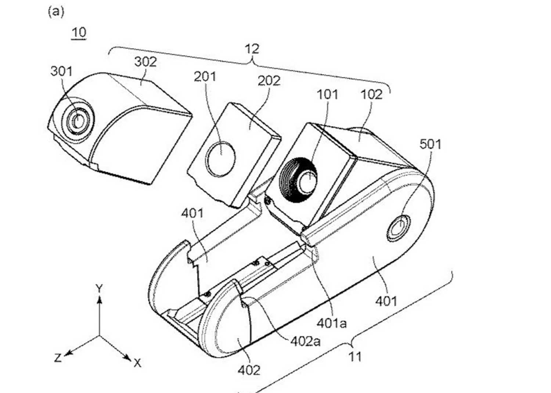 Canon brevetto fotocamera smartphone modulare