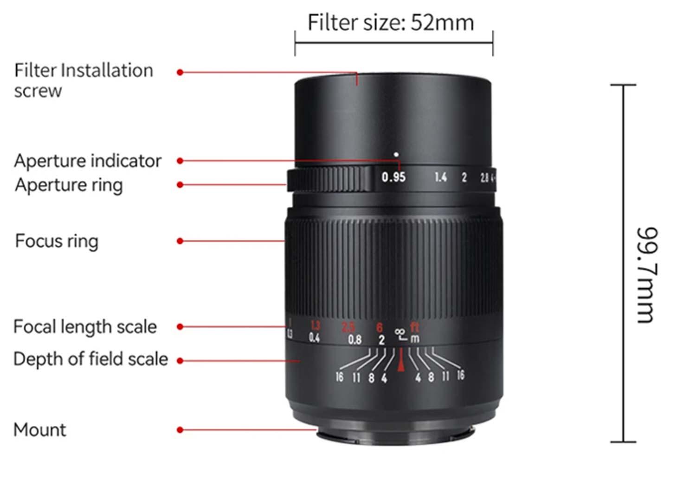 7Artisans 25mm f/0.95