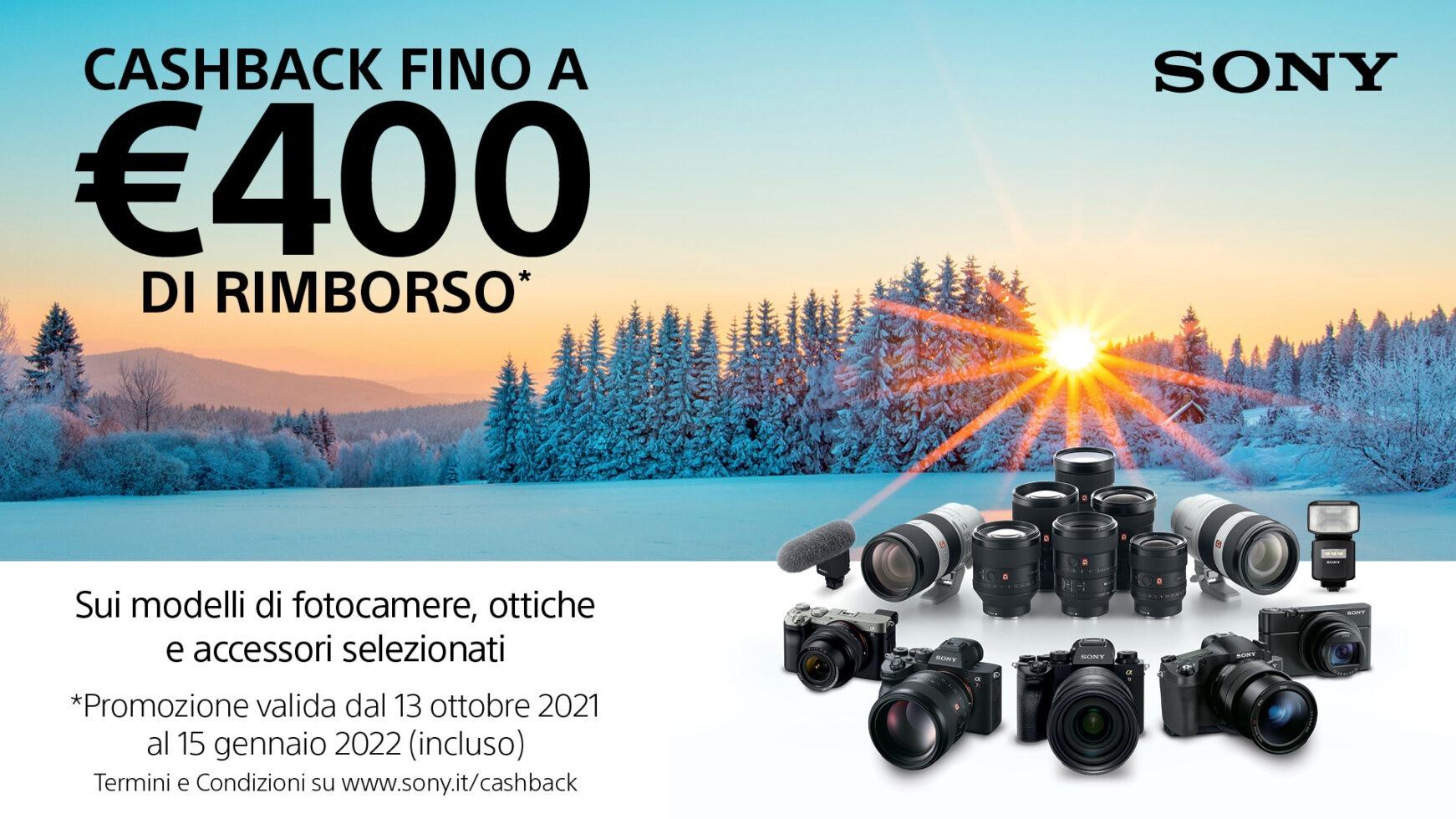 Sony Cashback inverno 2021